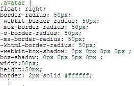 CSS Code Avatare