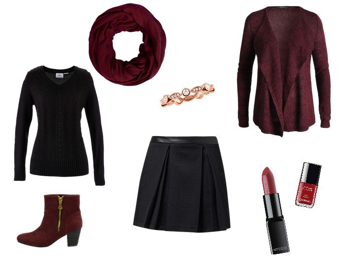 Christmas Outfit Black-Red