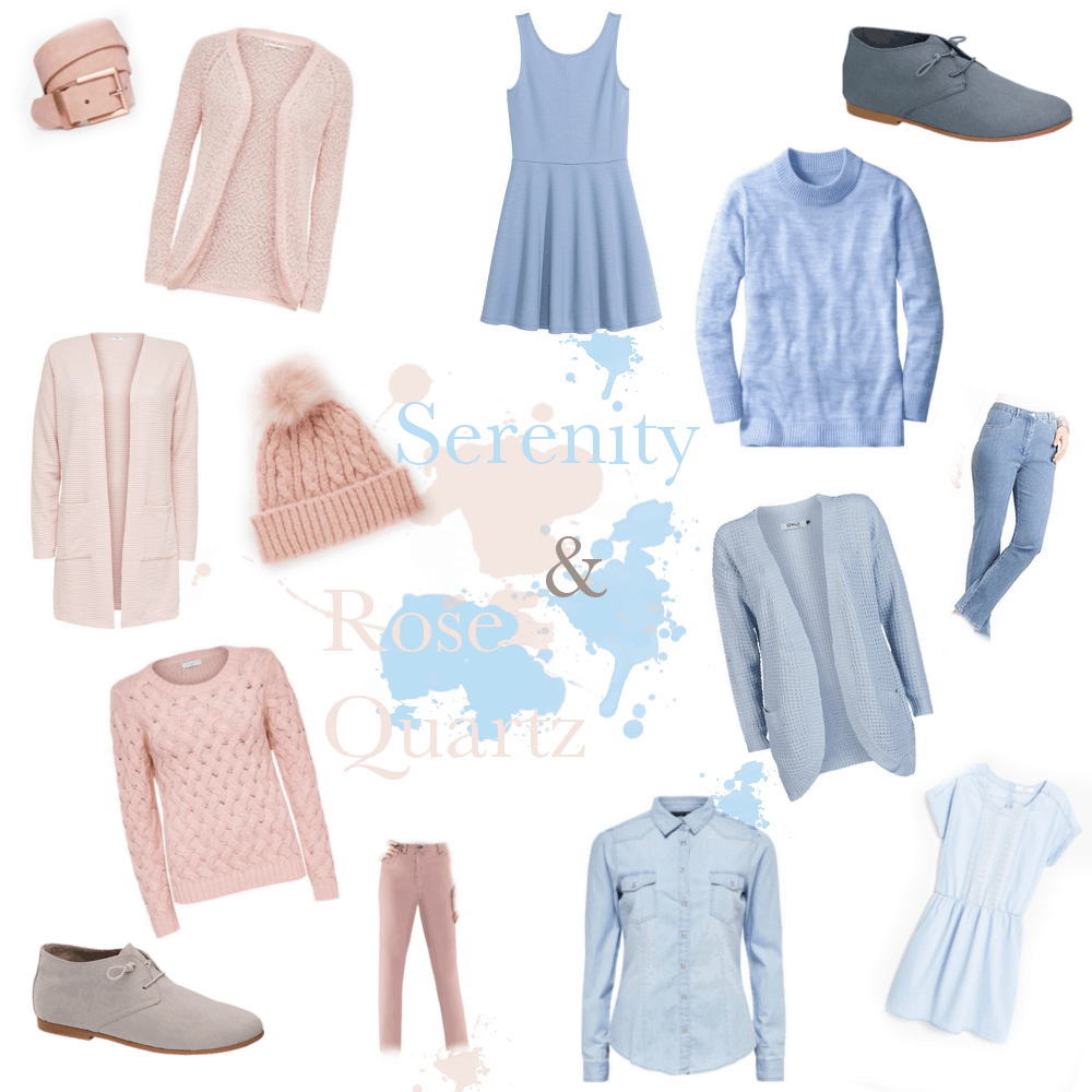Fashion Inspo Serenity und Rose Quartz