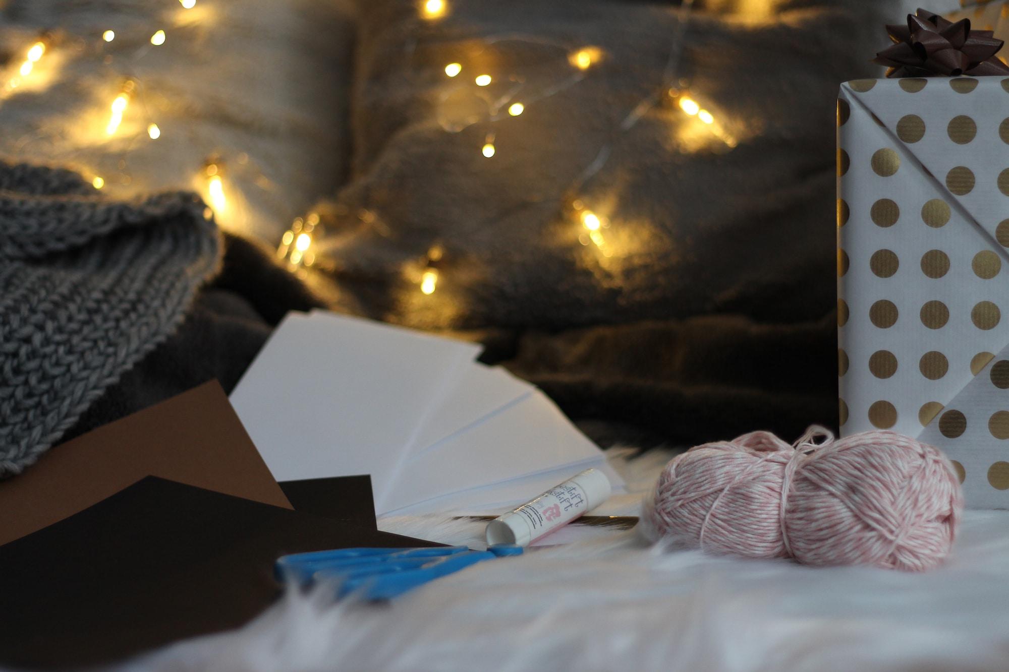 Materialien für den Schnitzeljagd Adventskalender