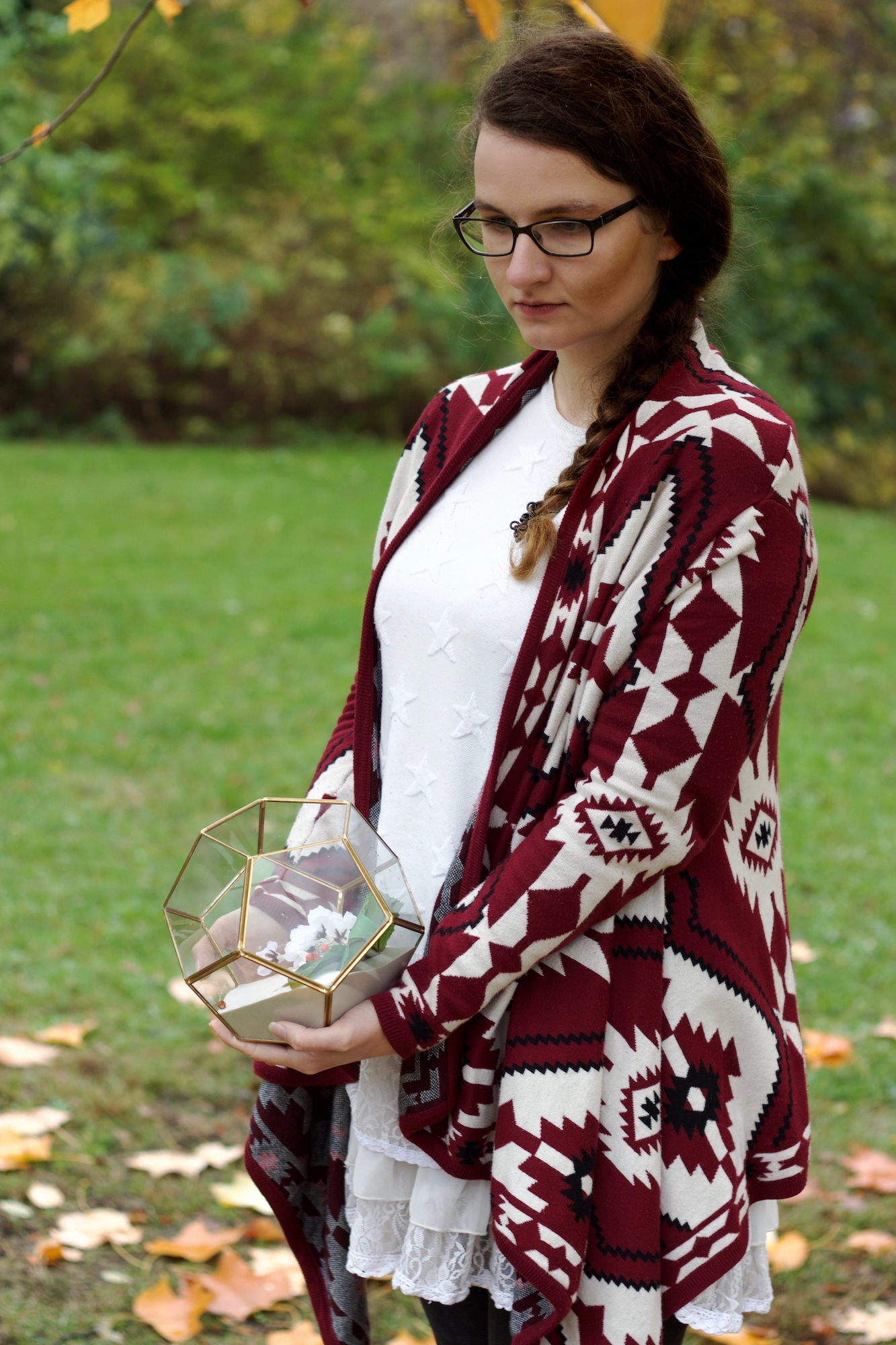 Herbstoutfit Roter Cardigan