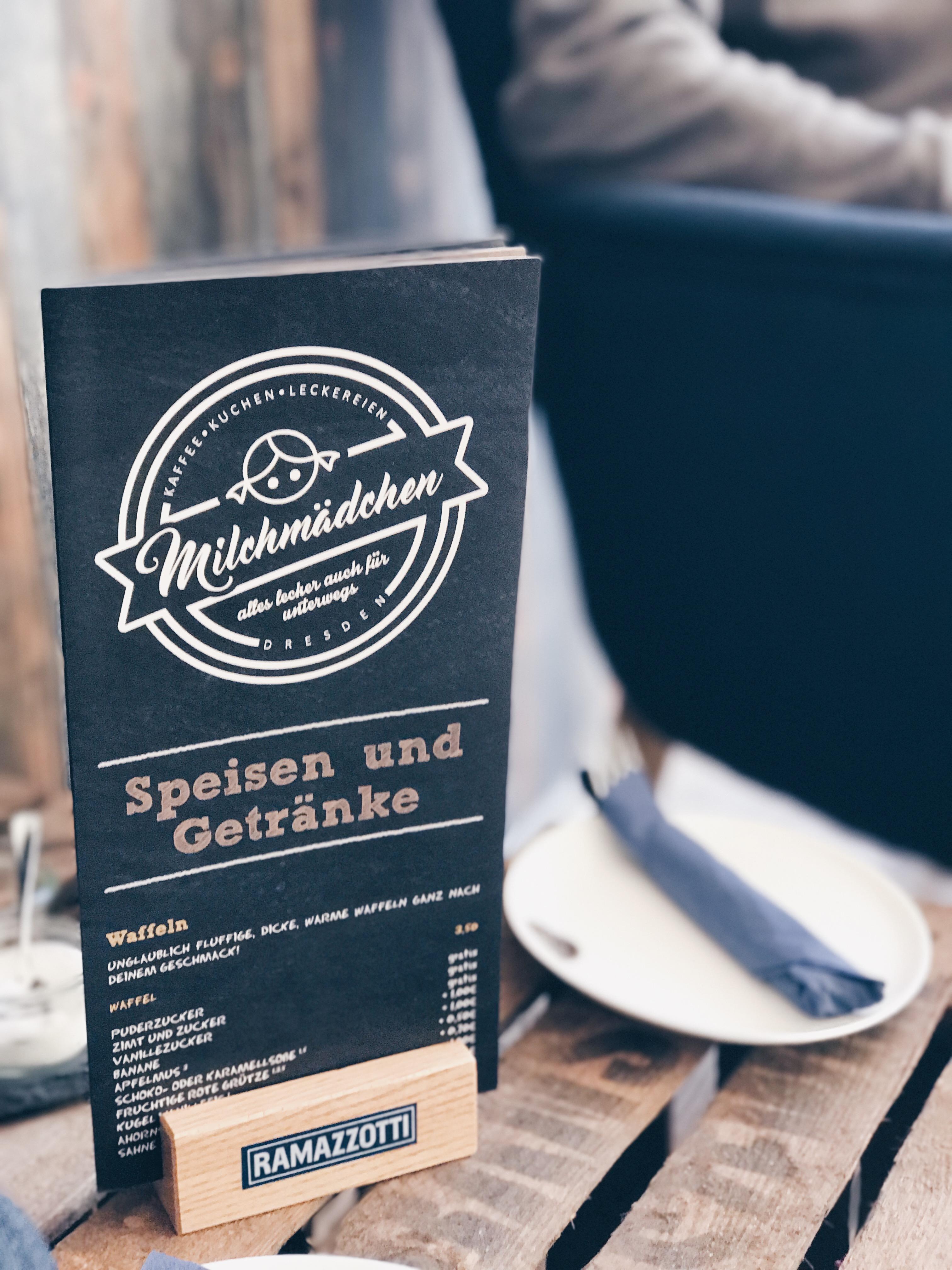 Speisekarte Cafe Milchmädchen