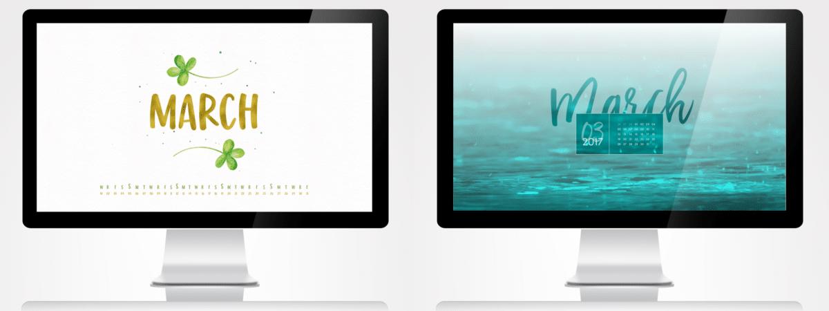 Desktop Wallpaper März 2017 türkis und grün