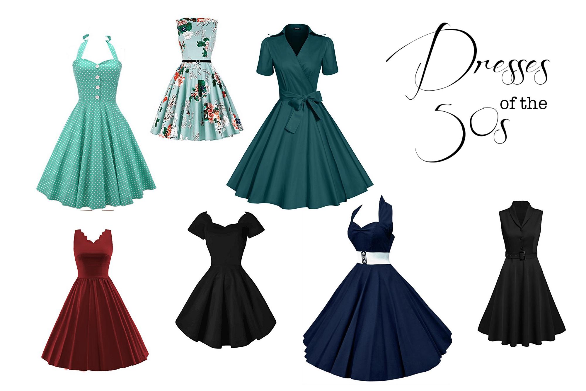 Kleider im 50er Jahre Stil