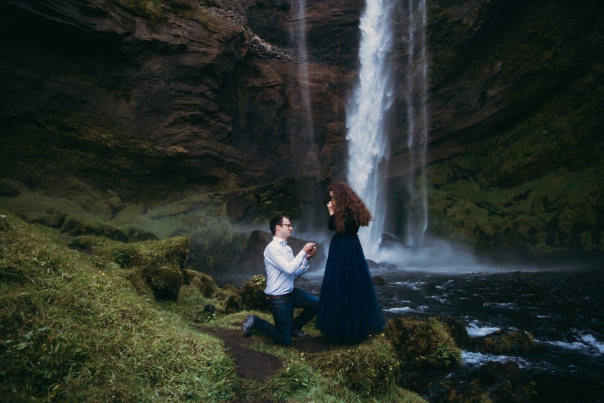 unsere Verlobung auf Island