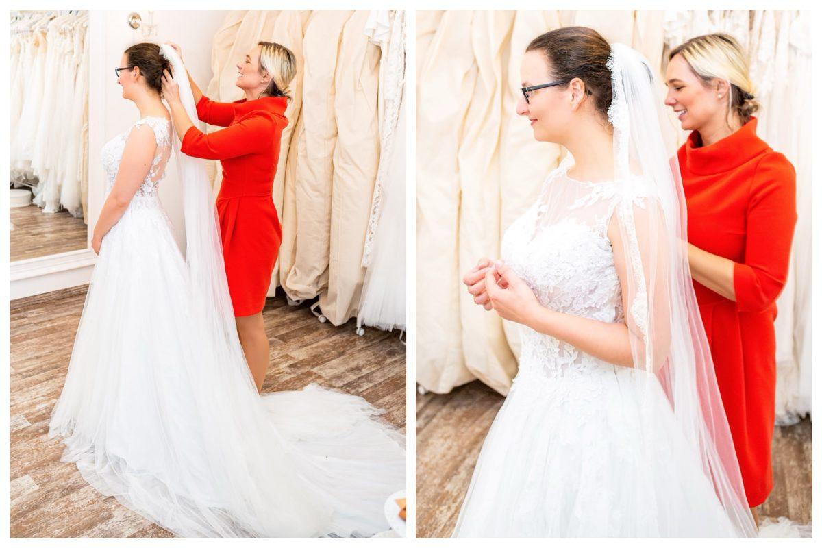 Brautkleidanprobe Bridals by Alessandra